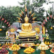 พระพุทธรูป ทองเหลือง พ่นทอง ปางนาคปรก 30 นิ้ว