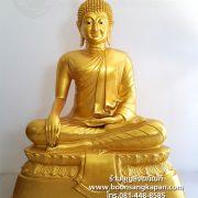 พระพุทธรูป ทองเหลือง พ่นทอง หน้าตัก 40 นิ้ว