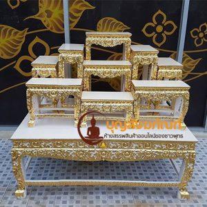 โต๊ะหมู่สีครีม,โต๊ะแต่งงาน,โต๊ะหมู่บูชาปิดทอง,โต๊ะหมู่ 9หน้า8,ราคาโต๊ะหมู่,โรงงานโต๊ะหมู่,
