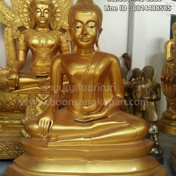 พระพุทธรูป อู่ทอง เนื้อทองเหลือง พ่นทอง หน้าตัก 40 นิ้ว