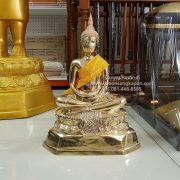 พระบูชาพระประจำวันเกิด ทองเหลือง ขัดเงา 9 นิ้ว ปางสมาธิ