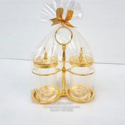 พวงกระไหร่ทองเหลือง ชุบทอง แบบเรียบ