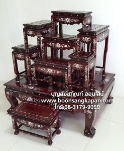 เครื่องมุก โต๊ะหมู่บูชามุก
