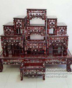 โต๊ะหมู่บูชา มุก หมู่ 9 หน้า 10 ไม้เต็ง