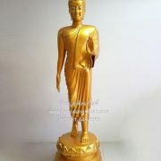 พระพุทธรูปทองเหลืองพ่นทอง ปางลีลา30นิ้ว