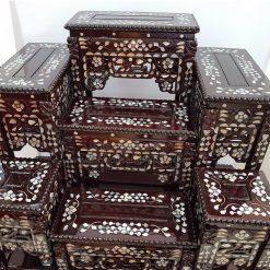โต๊ะหมู่มุก ไม้เต็ง หมู่ 7