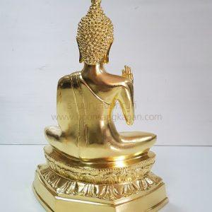 พระพุทธรูป ทองเหลือง ปิดทองคำแท้ หน้าตัก 9นิ้ว