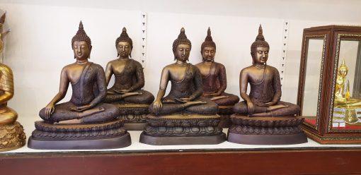 พระพุทธรูปสมัยอู่ทอง หน้าตัก 9 นิ้ว ทองเหลือง รมดำ
