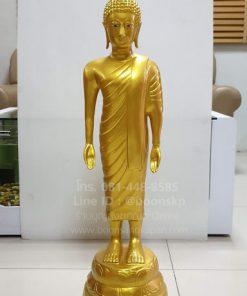 พระปางเปิดโลก ทองเหลือง พ่นทอง ขนาด 12 นิ้ว ความสูง 80 ซม.
