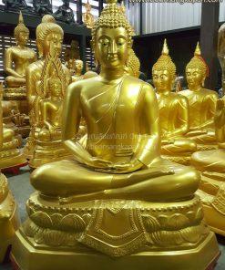 พระพุทธรูป ทองเหลือง พ่นทอง หน้าตัก 32 นิ้ว