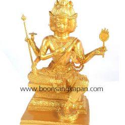 พระพรหม 9 นิ้ว ทองเหลือง พ่นทอง