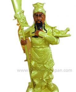 เทพเจ้ากวนอู ทองเหลือง พ่นทอง สูง 1 เมตร