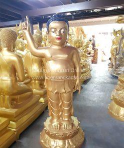 พระพุทธเจ้าน้อย ทองเหลือง พ่นทอง