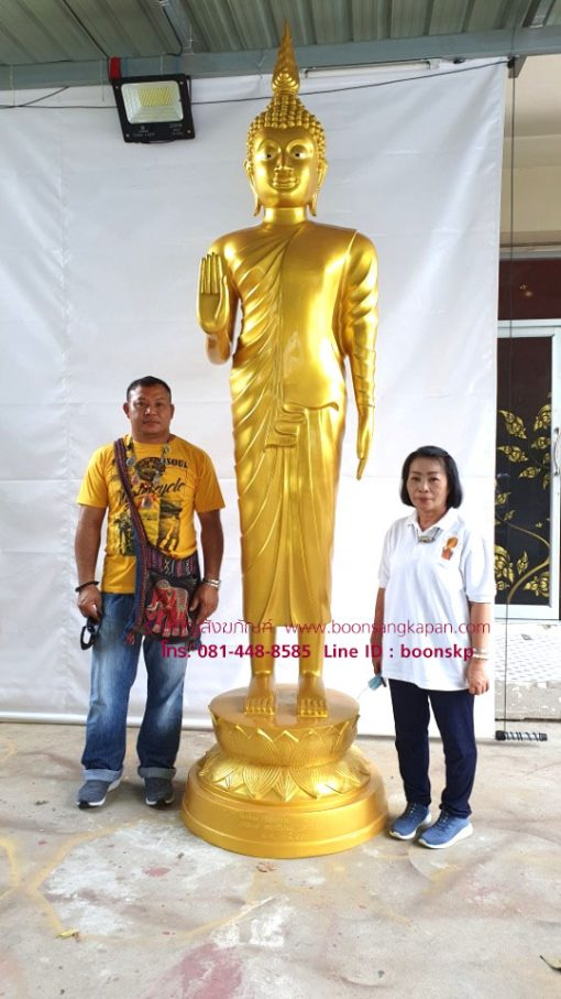 พระปางห้ามญาติ ทองเหลืองสูง 3.10 เมตร
