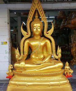 พระพุทธชินราช เนื้ออัลลอยด์ พ่นทอง ฐานบัว หน้าตัก 50 นิ้ว