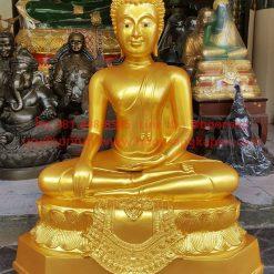 พระพุทธรูป ทองเหลือง พ่นทอง ปางชนะมาร หน้าตัก 20 นิ้ว